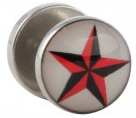 Stahl Fake Plug roter Stern