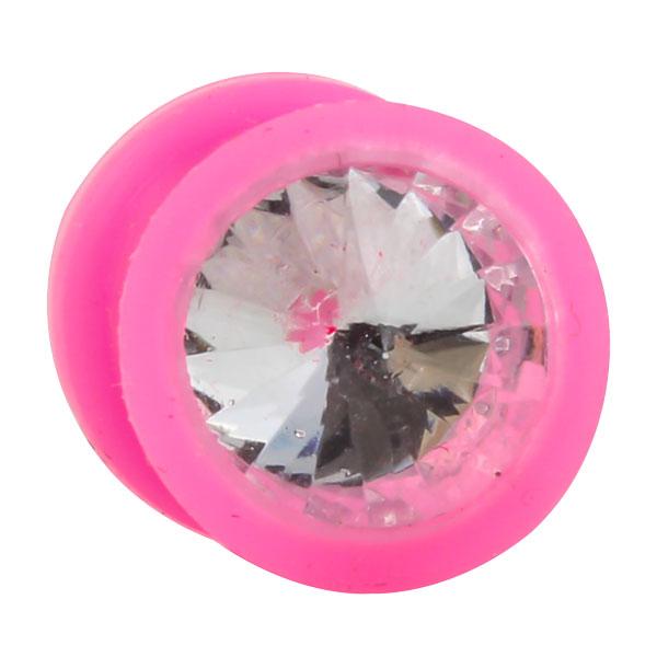 silikon plug rosa kristall klar kristall plugsplugs. Black Bedroom Furniture Sets. Home Design Ideas