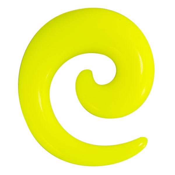 acryl dehnschnecke gelb dehnschneckendehner. Black Bedroom Furniture Sets. Home Design Ideas