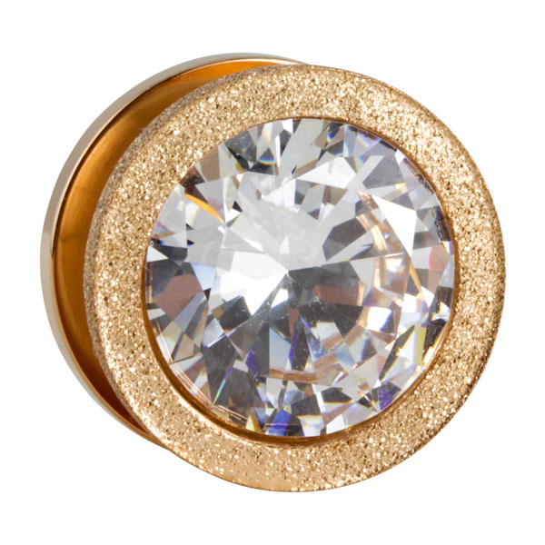 ros goldener stahl tunnel mit diamantenoptik und gro em kristall im shimo shop. Black Bedroom Furniture Sets. Home Design Ideas