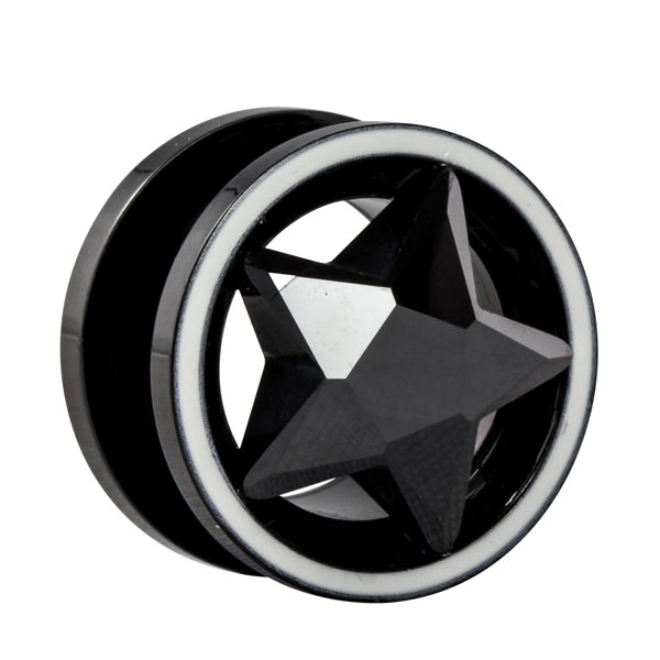 kristall flesh tunnel im shimo shop online g nstig kaufen. Black Bedroom Furniture Sets. Home Design Ideas