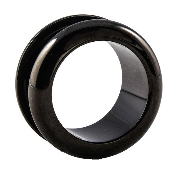 stahl flesh tunnel schwarz halbrund. Black Bedroom Furniture Sets. Home Design Ideas