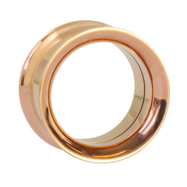 byo tunnel ros goldfarben aus chirurgenstahl mit titan pvd beschichtung und innengewinde. Black Bedroom Furniture Sets. Home Design Ideas
