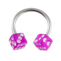 Circular-Barbell-Würfel-pink