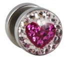 Kristall Fake Plug Herz