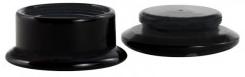 Acryl Plug schwarz mit weißen Punkten