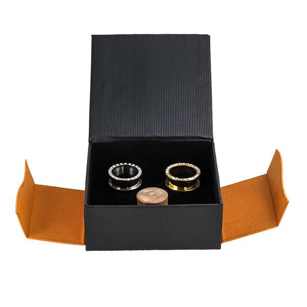 aufbewahrungsbox f r tunnel und plugs orange schwarz von. Black Bedroom Furniture Sets. Home Design Ideas