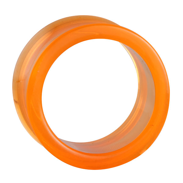 orangener semitransparenter acryl flesh tunnel im shimo shop. Black Bedroom Furniture Sets. Home Design Ideas